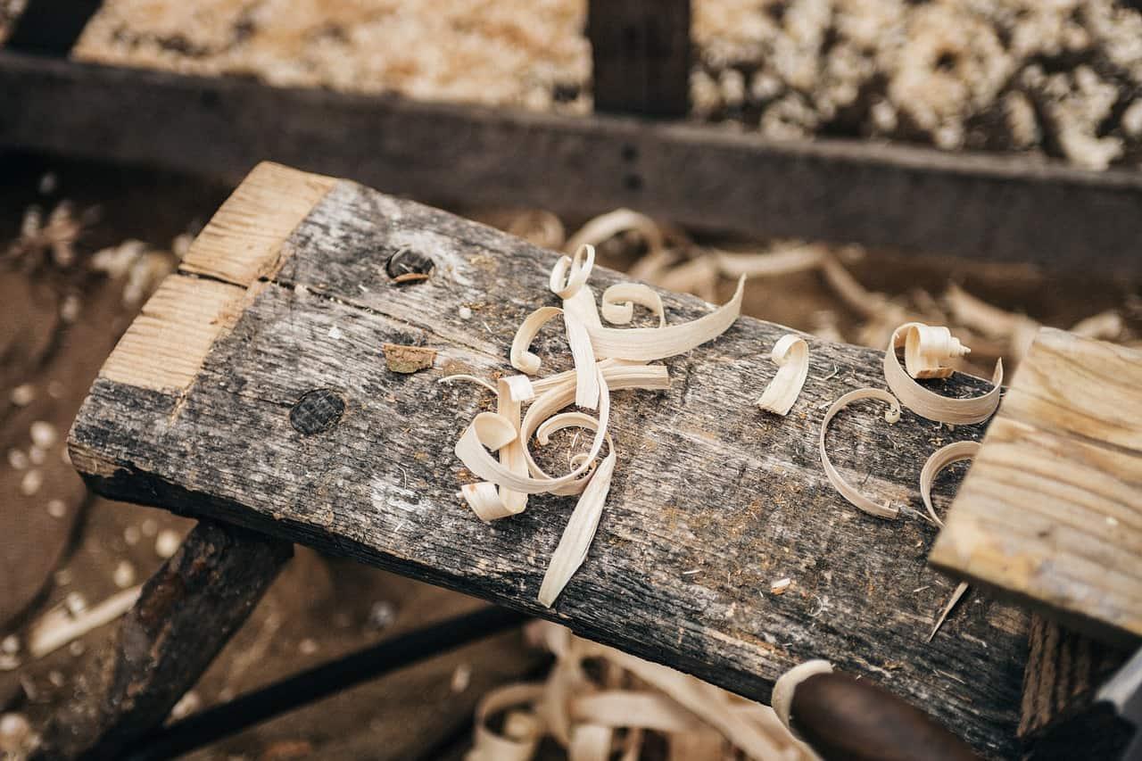 Houtbouw steigerhout planken