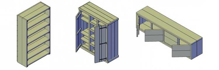 houten kast maken opties