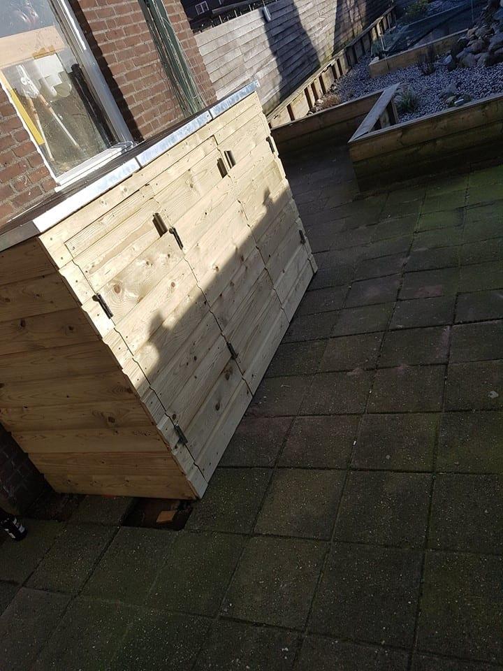 houten kliko ombouw maken eindresultaat freds bouwtekeningen