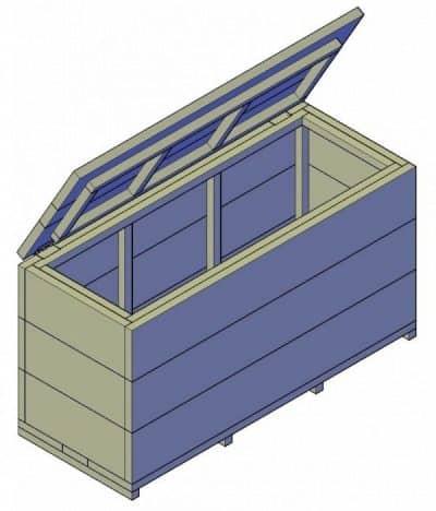 houten opbergkist maken bouwtekening pdf
