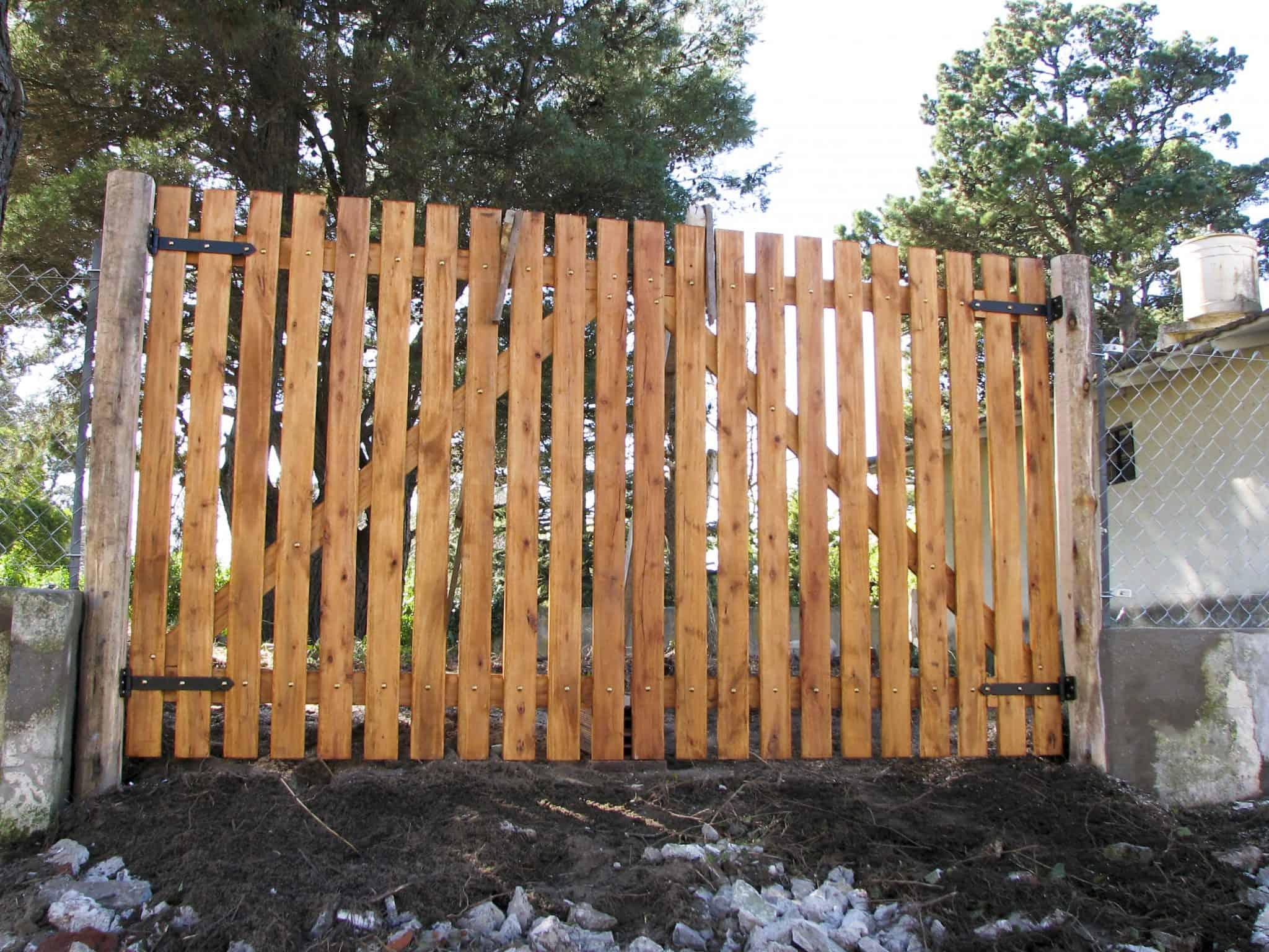 Zeer houten poort maken tekening Archieven - Houtbouwklustekeningen.nl @LI35