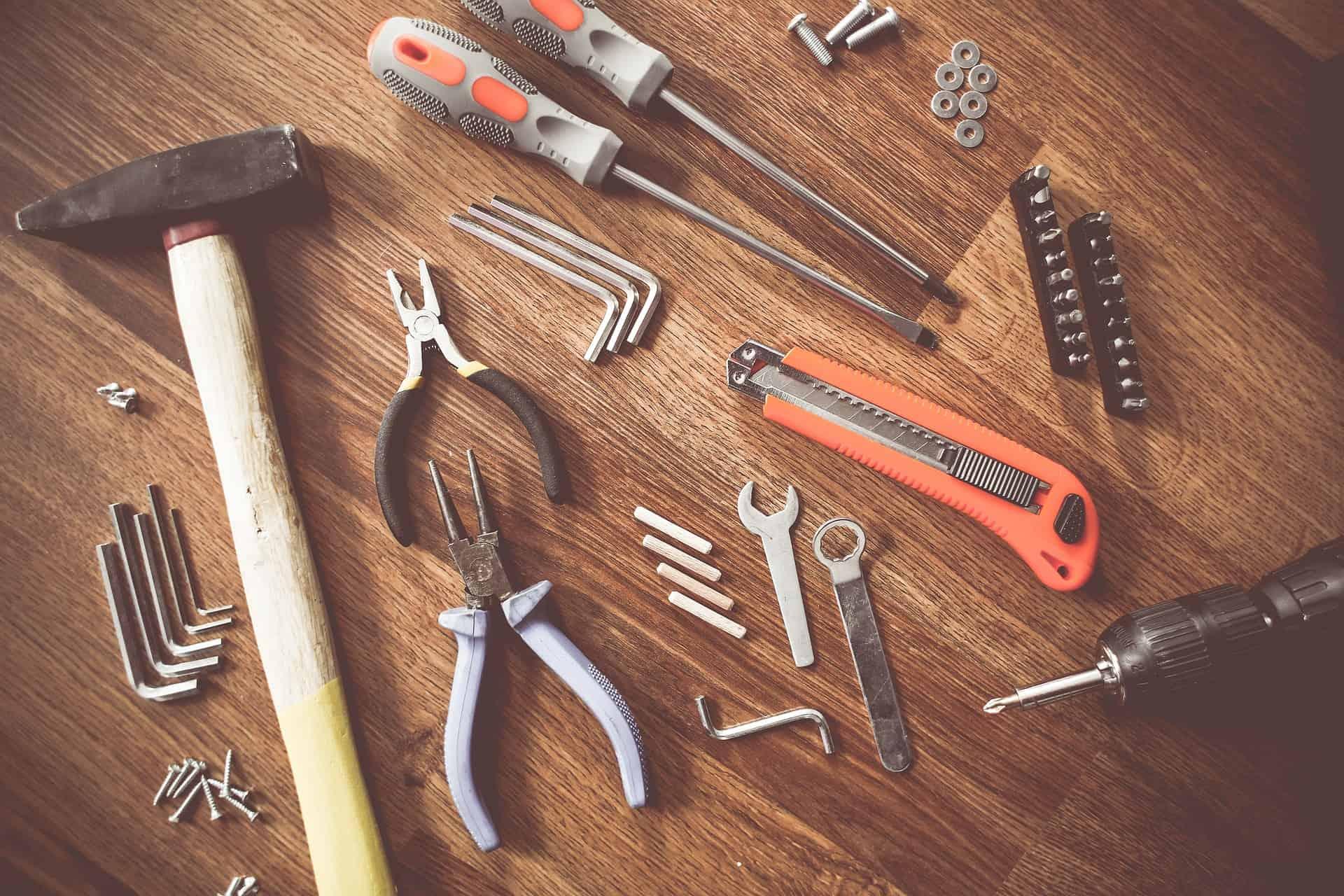 gereedschap voor houtbouw