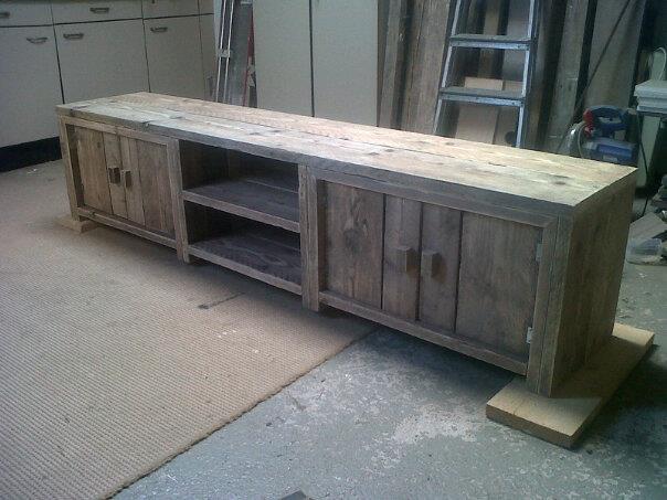 tv meubel steigerhout maken oktober 2018 bouwtekening