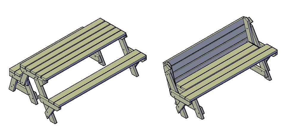 inklapbare picknickbank maken bouwtekening pdf download