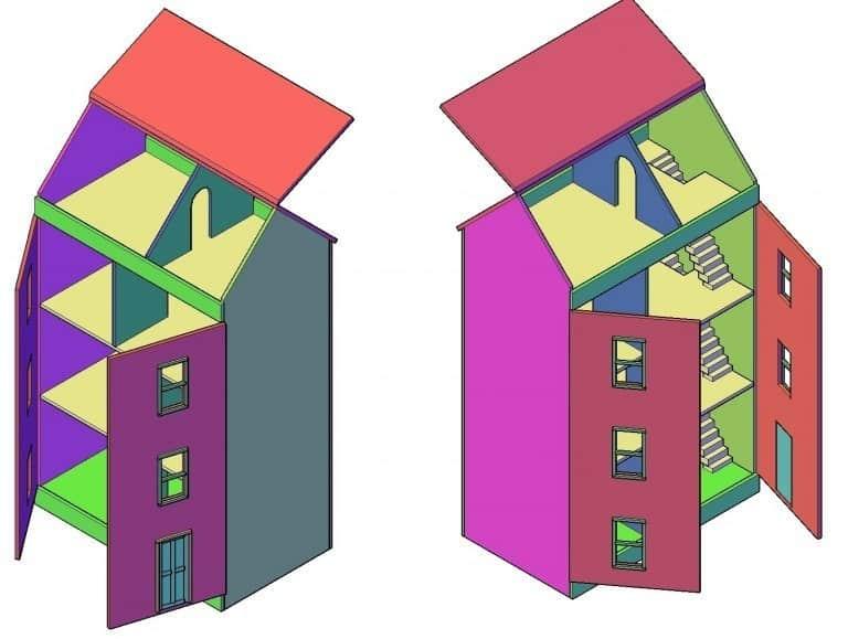 poppenhuis maken bouwtekening download