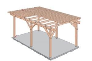 Afdak Tuin Maken : Overkapping hout maken perfect onderdelen overkapping maken