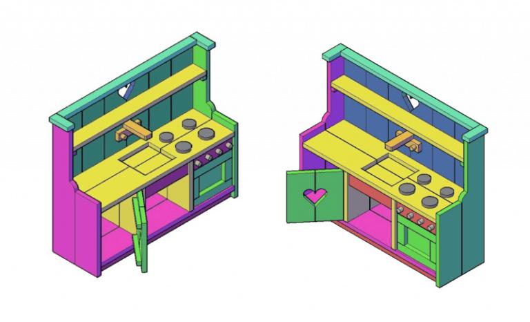 houten speelgoed keuken bouwtekening pdf