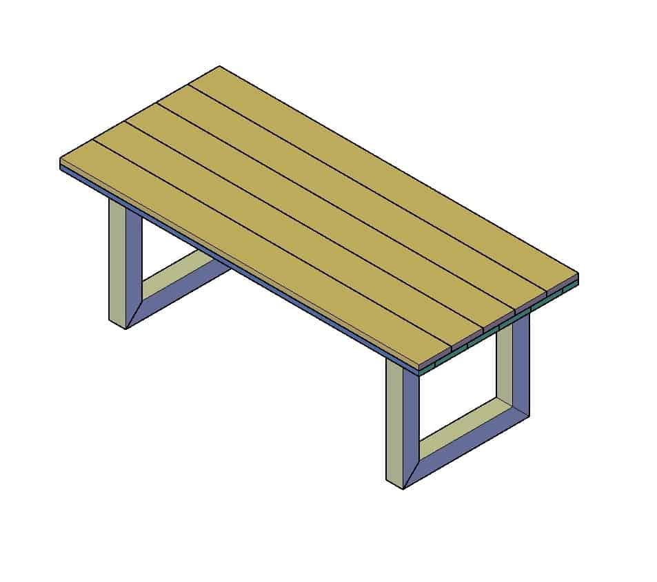 steigerhouten tafel maken bouwtekening downloaden