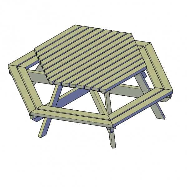 Tekening Picknicktafel-zeshoek-2-600x600