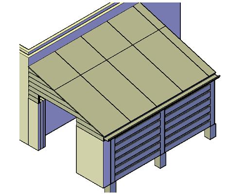 overkapping aan bestaande schuur bouwtekening