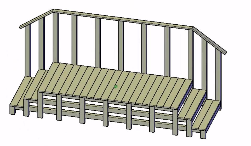 stacaravan opstap maken bouwtekening