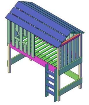 bouwtekening boomhut bed kinderen pdf