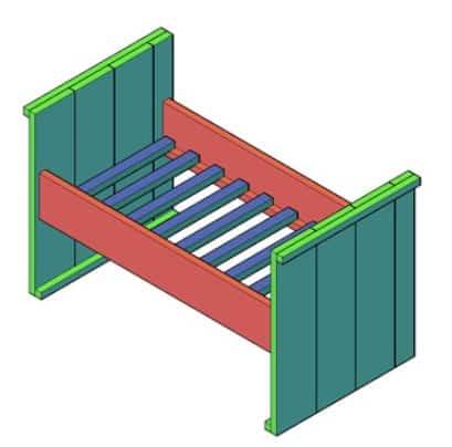 kinderbed steigerhout bouwtekening pdf