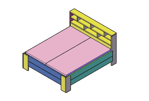 tweepersoons bed type g freds bouwtekeningen
