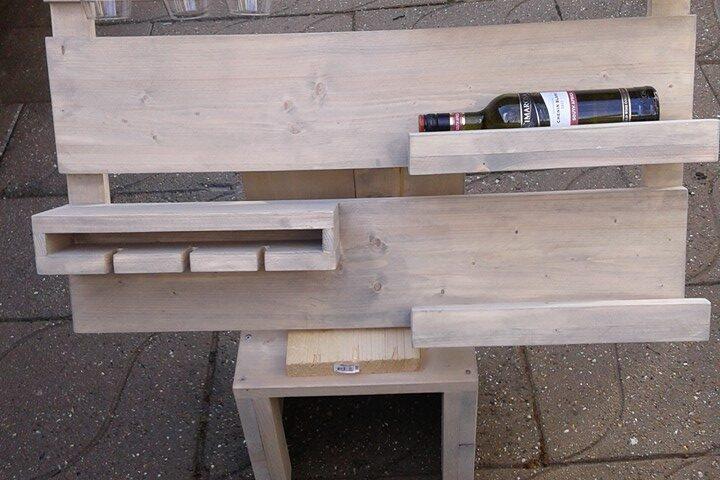 wijnrek wand steigerhout project bouwtekening