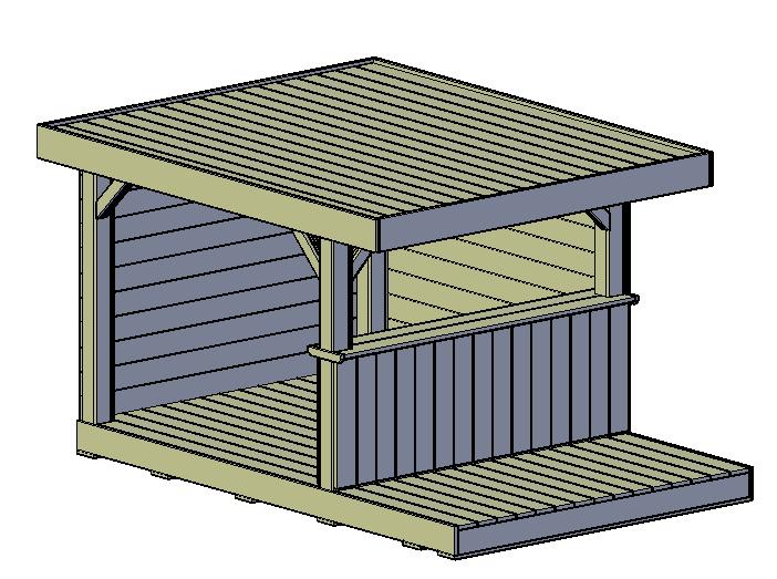 Overkapping terras type A freds bouwtekeningen